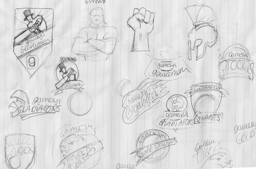 rough sketches logo