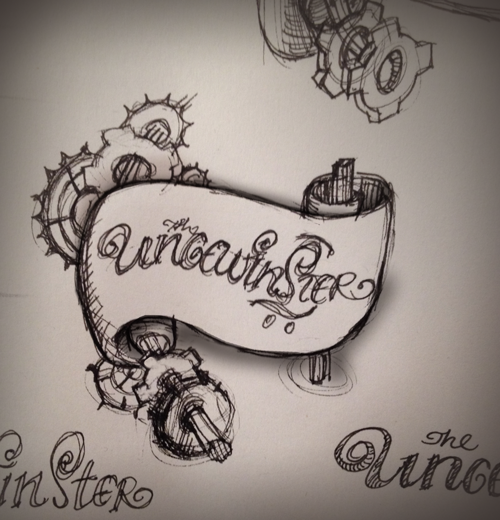 steampunk sketch logo