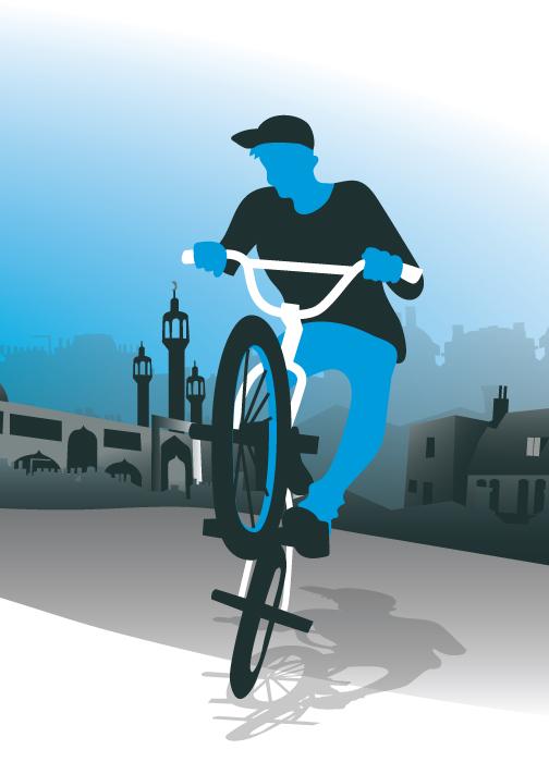 vector bmx bike rider illustration graphic