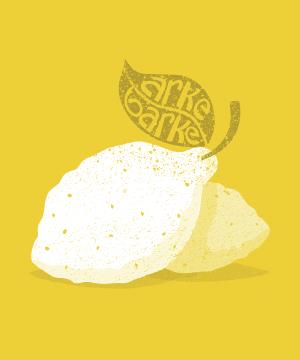 lemon yellow graphic art illustration design
