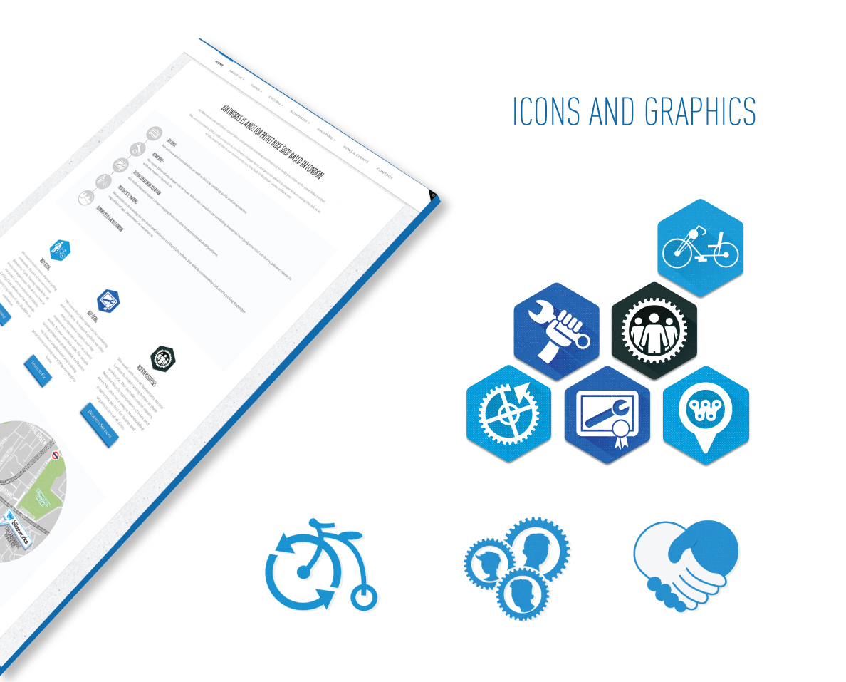 bike graphics icons design charity non-profit