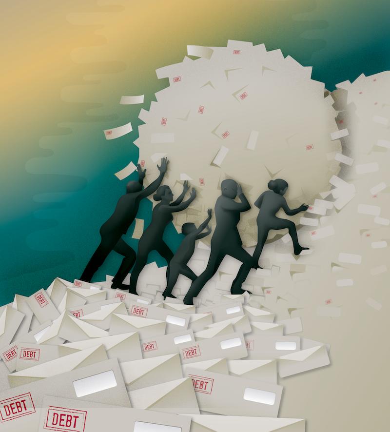 household debt illustration