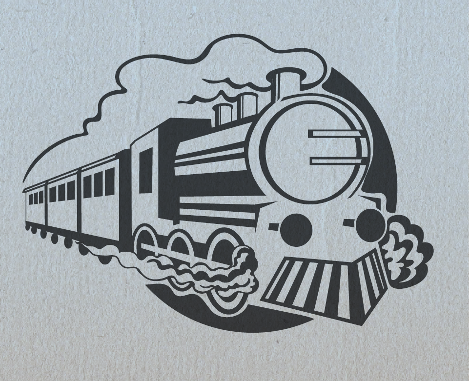 steam train logo design
